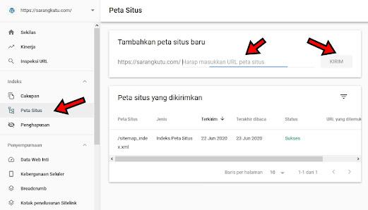 Memasukkan Sitemap Ke Google Search Console
