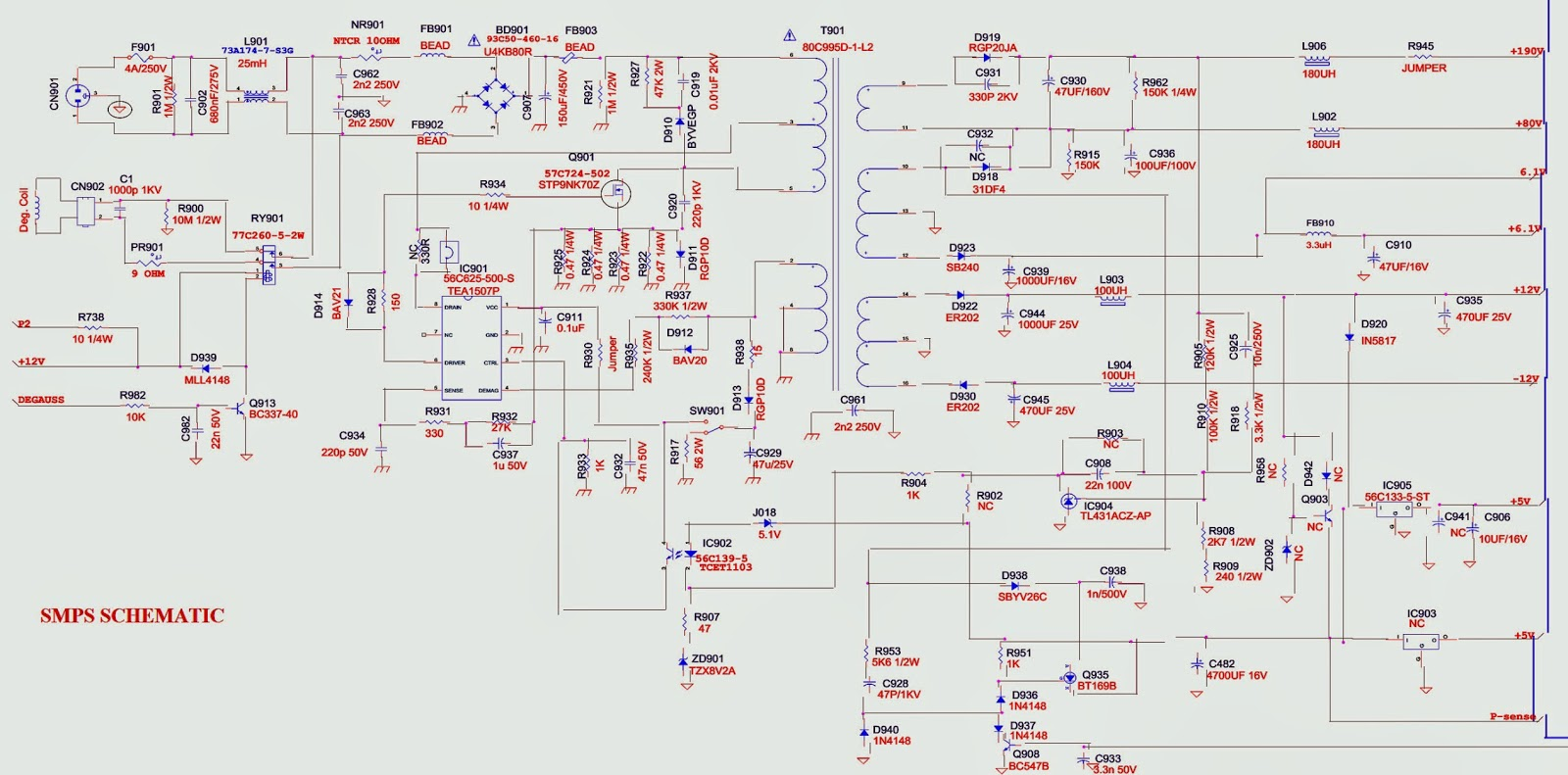Smps Schematic Diagram Cat5 Crossover Wiring Viewsonic G90fb 4 Monitor Syscon And H Out