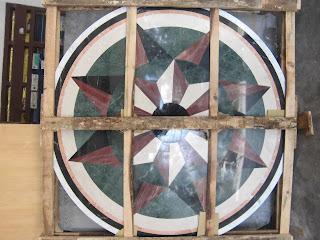 Motif Marmer Bentuk Kompas
