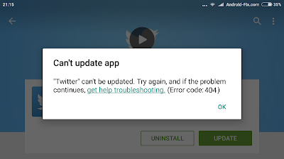 Cara Mengatasi Play Store Can't Update Error Code 404