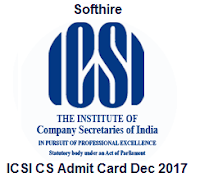 ICSI CS Admit Card Dec