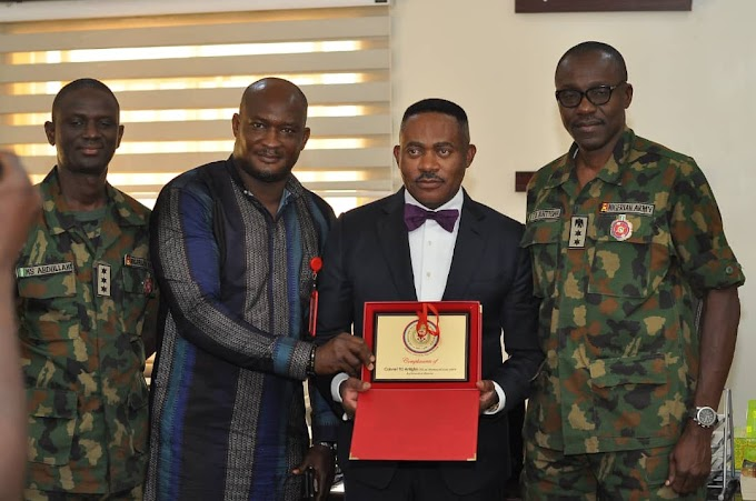 Anambra Governorship Hopeful, Dr. Maduka Speaks At Armed forces radio, Gets Military Honour