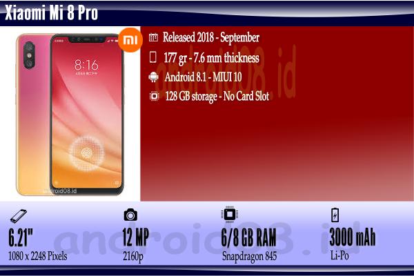 Spesifikasi Xiaomi Mi 8 Pro
