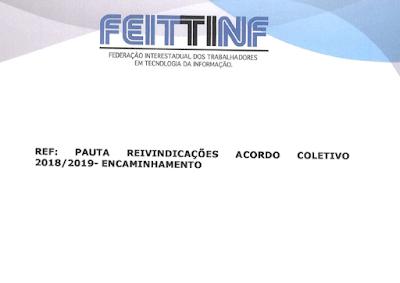 Feittinf protocola pauta de reivindicações da Cobra Tecnologia