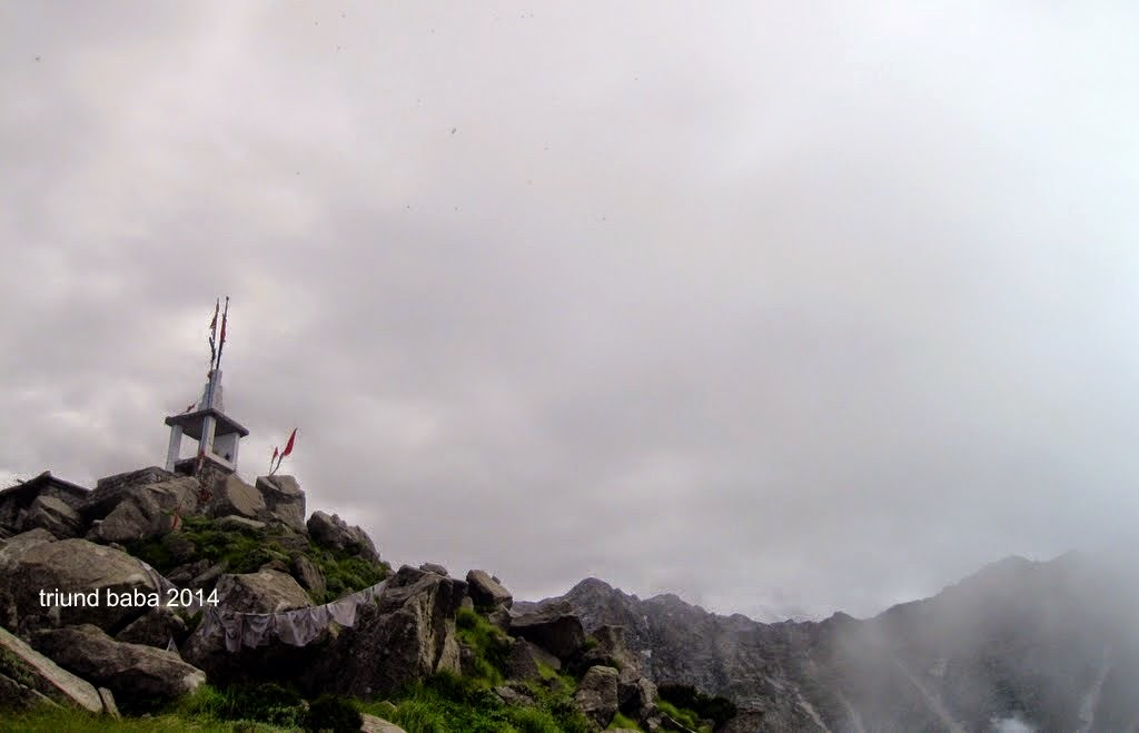 Temple of Kunal Pathri Devi at real top of Triund Hill