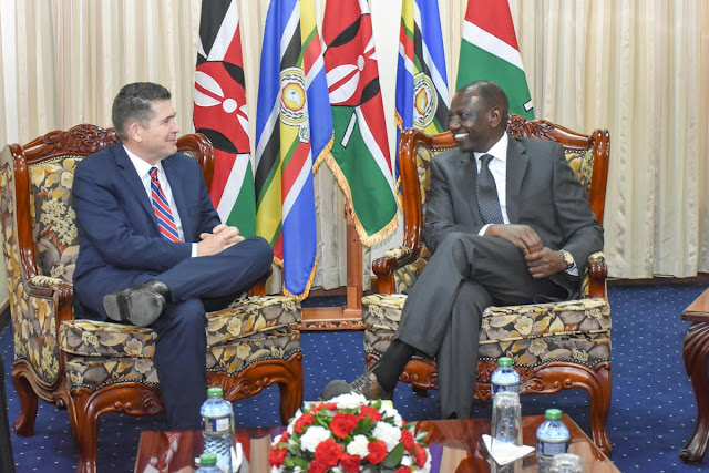 US Ambassador Kyle McCarter Ignores Rumours Pledges To Work With DP Ruto