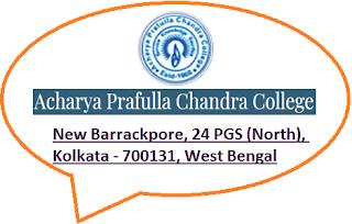 Acharya Prafulla Chandra College, New Barrackpore, 24 PGS (North), Kolkata - 700131, West Bengal
