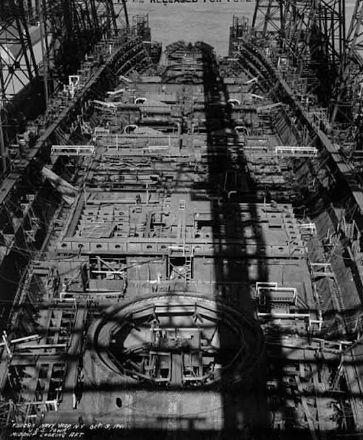 USS Iowa under construction 3 October 1941 worldwartwo.filminspector.com