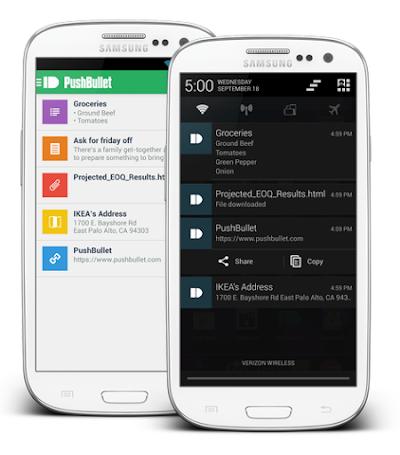 تطبيق PushBullet من أفضل طريقة لربط هاتفك بجهاز الكمبيوتر الخاص بك