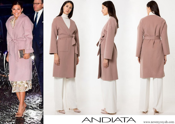 Crown Princess Victoria wore Andiata Odnala wool coat
