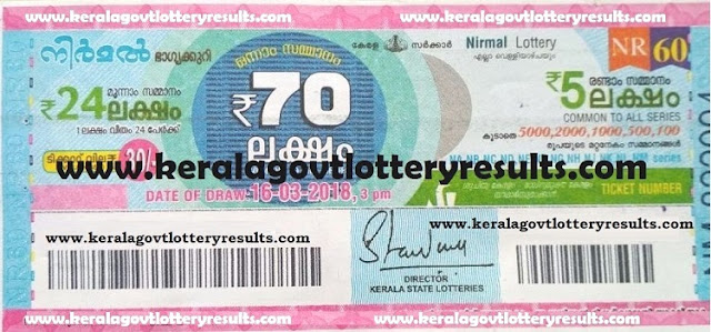 nirmal lottery results, kerala lottery results