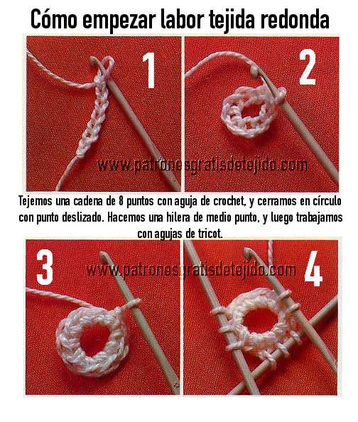 aprender a tejer con cuatro agujas