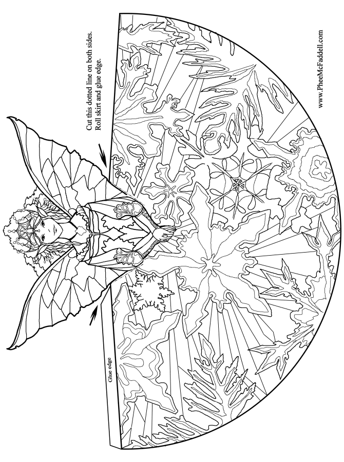 printable detailed angel coloring pages - photo#44