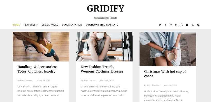Gridify Free Blogger Template