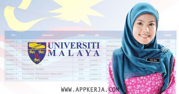 Permohonan Jawatan Dalam Universiti Malaya (UM) Untuk Lepasan SPM, STPM & Ijazah Terbuka Lelaki dan Wanita.  - Mei 2018
