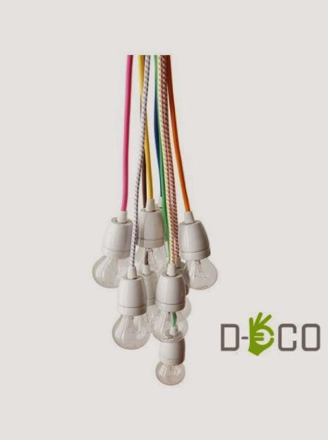 Cavi elettrici in tessuto colorati  Blog di arredamento e interni - Dettagli Home Decor