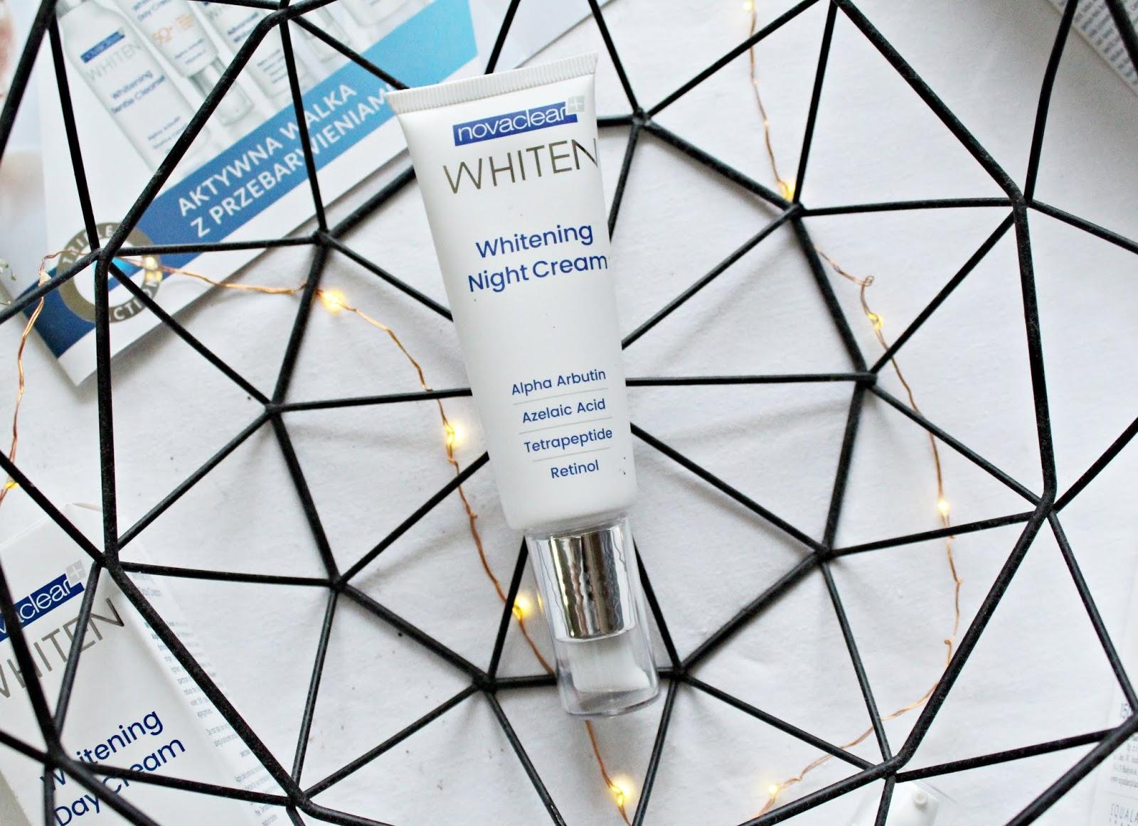 Whitening Night Cream - Wybielający Krem Na Noc nowaclear whiten