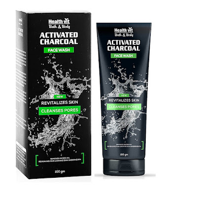 Best Paraben-Free Face Wash - HealthVit Activated Charcoal Face Wash