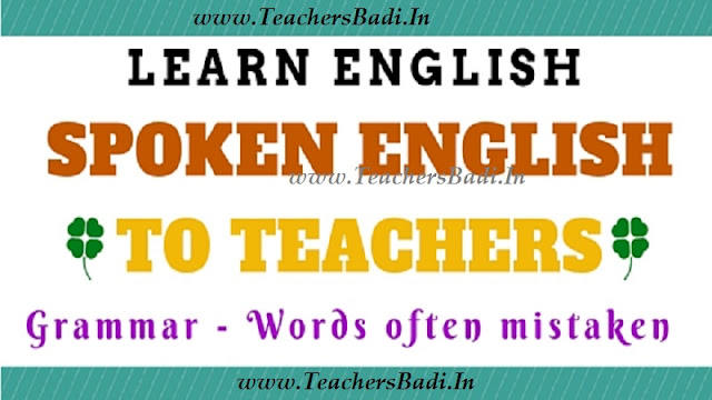Spoken English,School Teachers.Learn Grammar