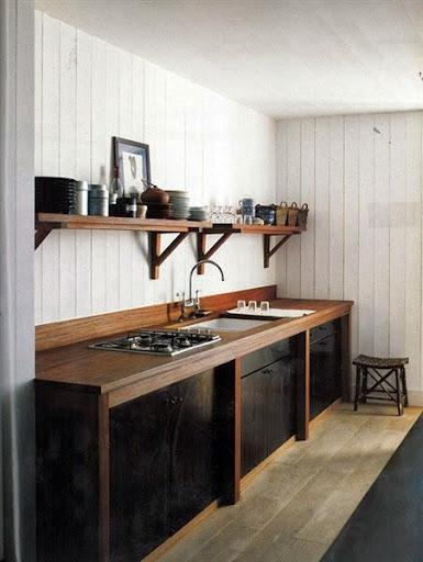 Gambar Model Kabinet Dapur Dari Kayu Minimalis Modern Terbaru 2017