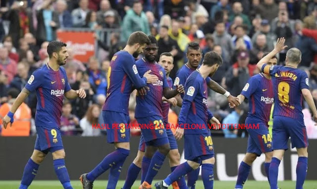 Hasil Pertandingan Barcelona vs Tottenham Hotspur 29 Juli 2018, Skor Akhir 2 - 2