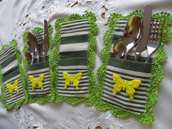 Handmade cutlery pockets beadsnbrooches