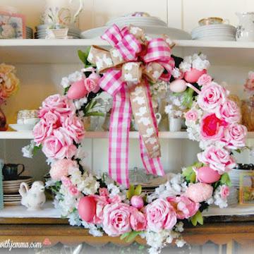 Sweet Spring Rose Wreath