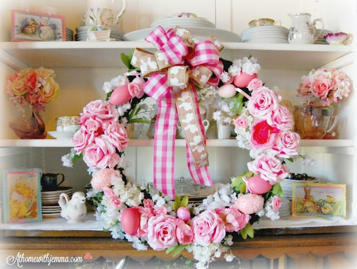 Sweet Spring Rose Wreath