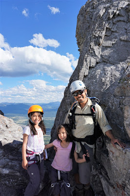 A notch in the rock face, Mount Yamnuska