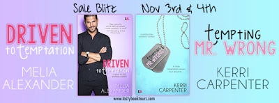 Sale Blitz: Driven to Temptation by Melia Alexander and Tempting Mr. Wrong by Kerri Carpenter