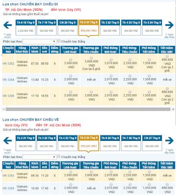 Vé máy bay đi Vinh Tết 2016