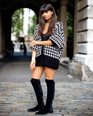 outfits tumblr botas largas negras