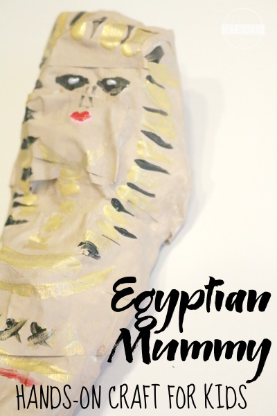 Egyptian Mummy Craft for kids