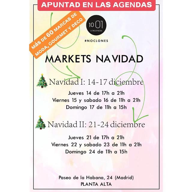 Cartel del Market de Navidad de 1001 Atmosphera