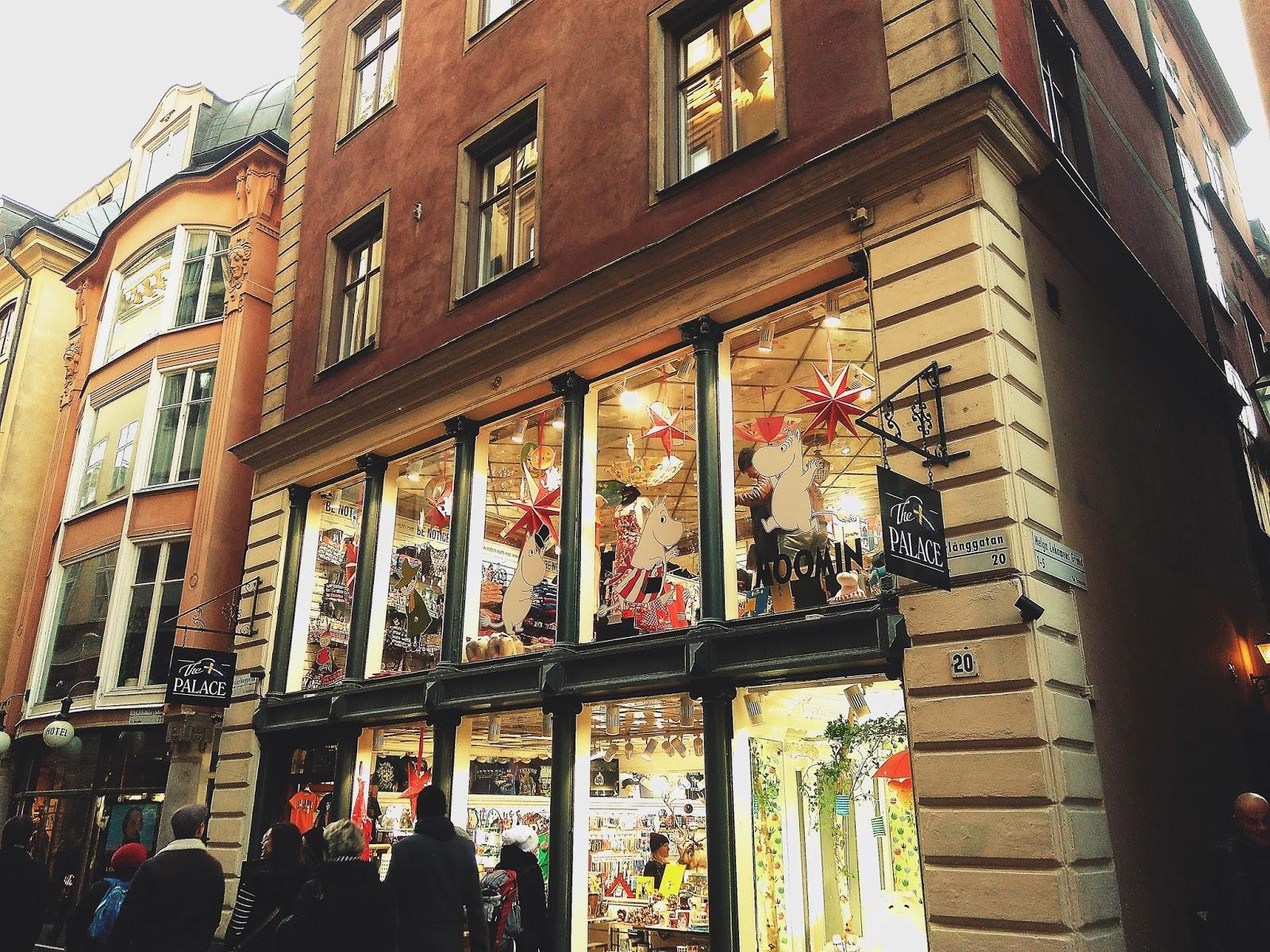 sklep z pamiątkami- Sztokholm