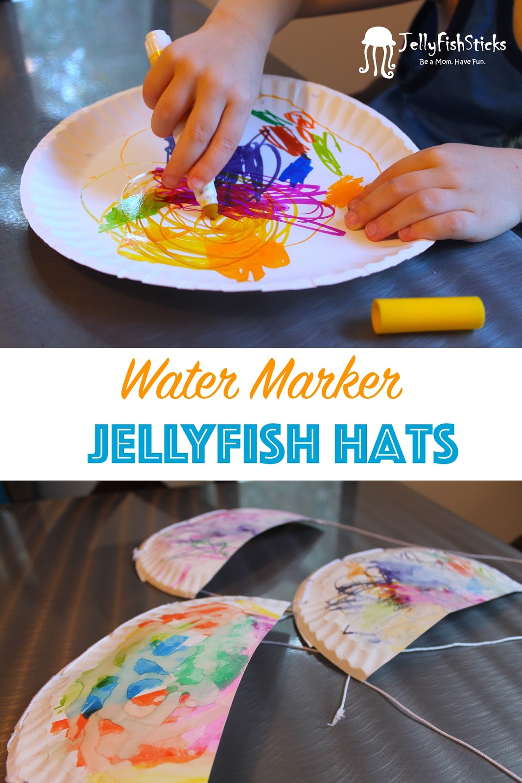 jellyfish water marker paper hats
