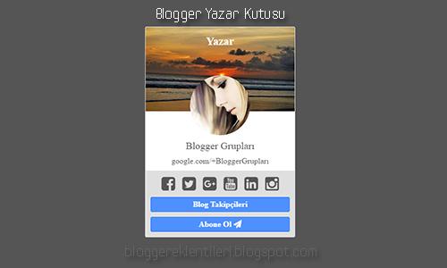 Yeni Blogger Yazar Kutusu Eklentisi