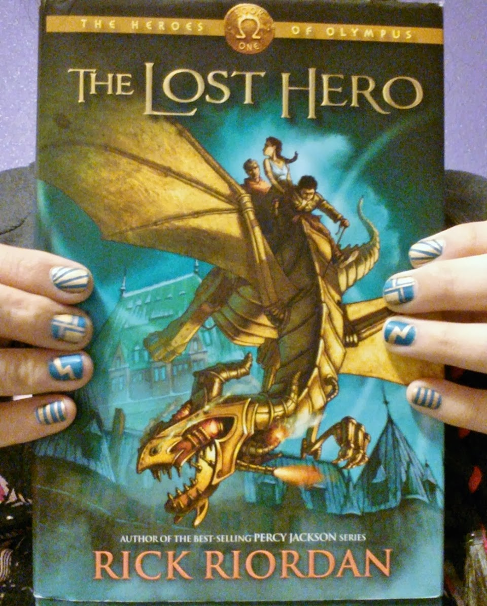 lili lost in a book literary nails the lost hero heroes