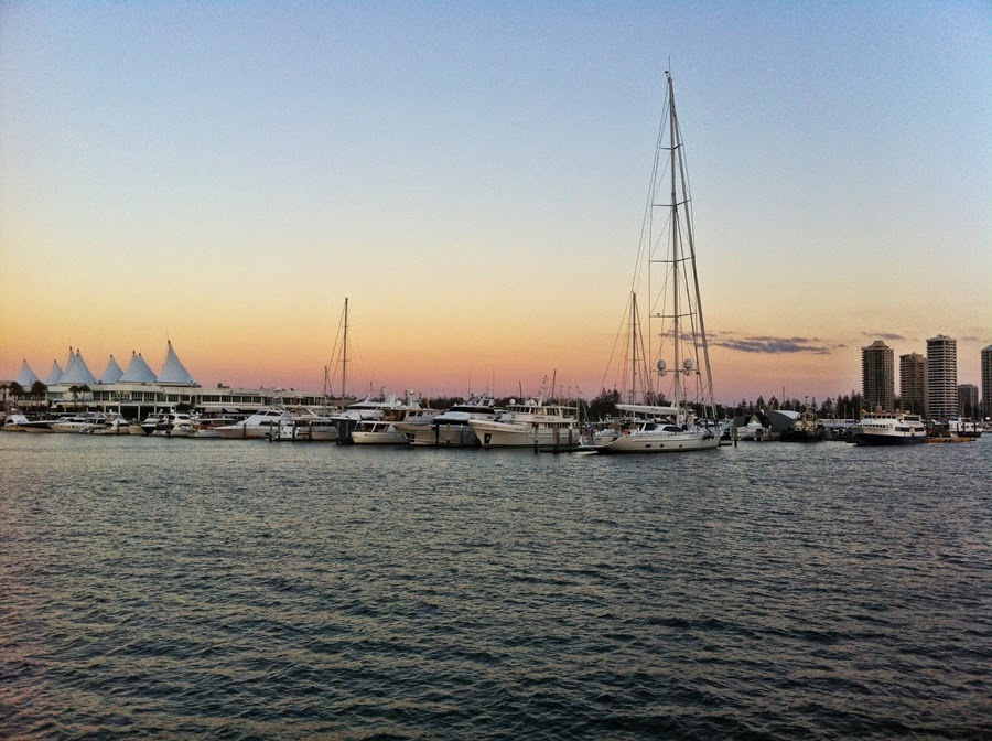 sunset, gold coast, surfers paradise,marina mirage