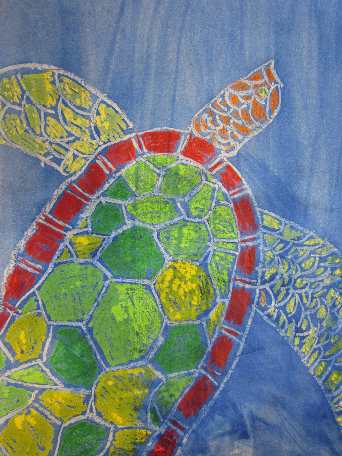 The Art Teacher S Closet In The Art Room Wax Resist Sea