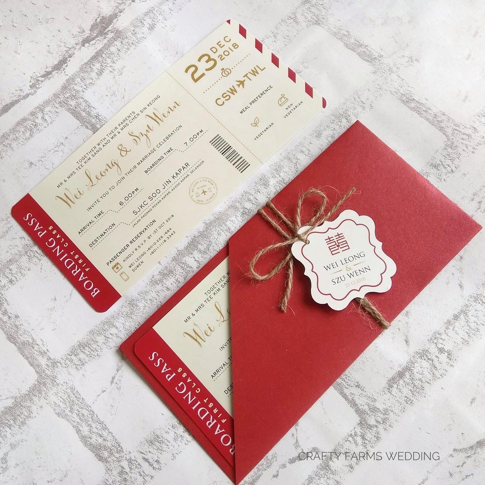 Wedding Card Malaysia | Crafty Farms Handmade : Modern Red Chinese ...
