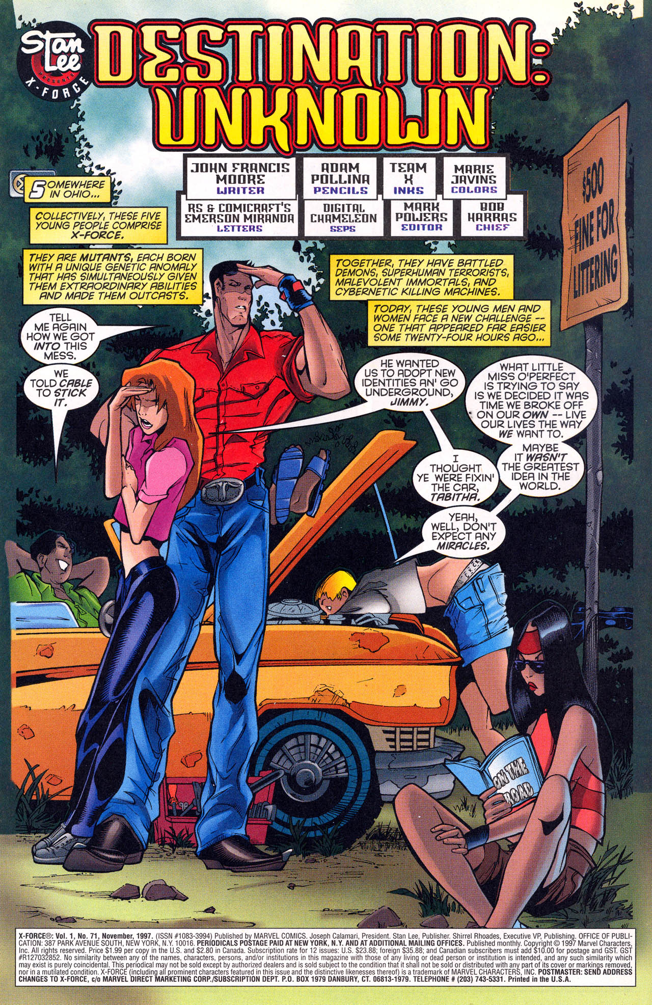 Read online X-Force (1991) comic -  Issue #71 - 5