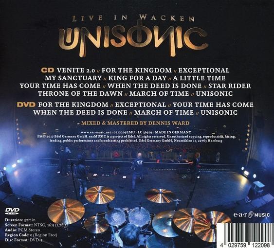 UNISONIC - Live In Wacken (2017) back