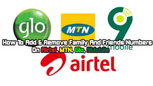 How to Add Family and Friends on Airtel, MTN and Glo