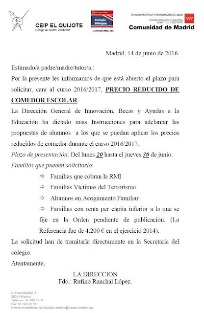 Beaufiful Comedor Escolar Madrid Pictures >> Precio Comedor Escolar ...