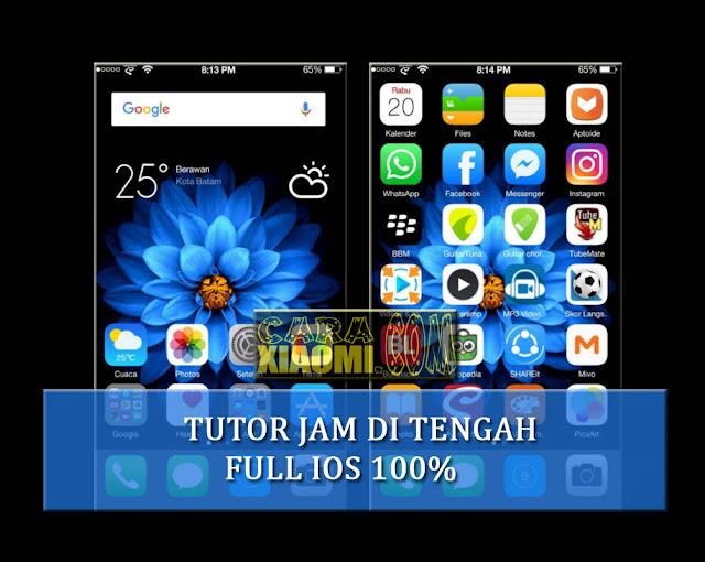 Tutorial Memindahkan Jam di Tengah Statusbar di Xiaomi Seperti Iphone(Tanpa Root)