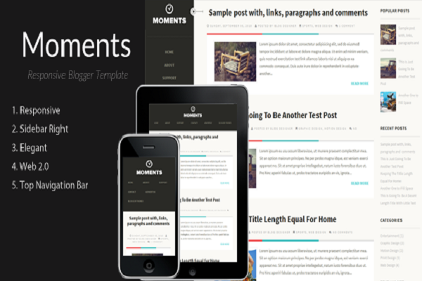 Moments Blogger Template Free Download