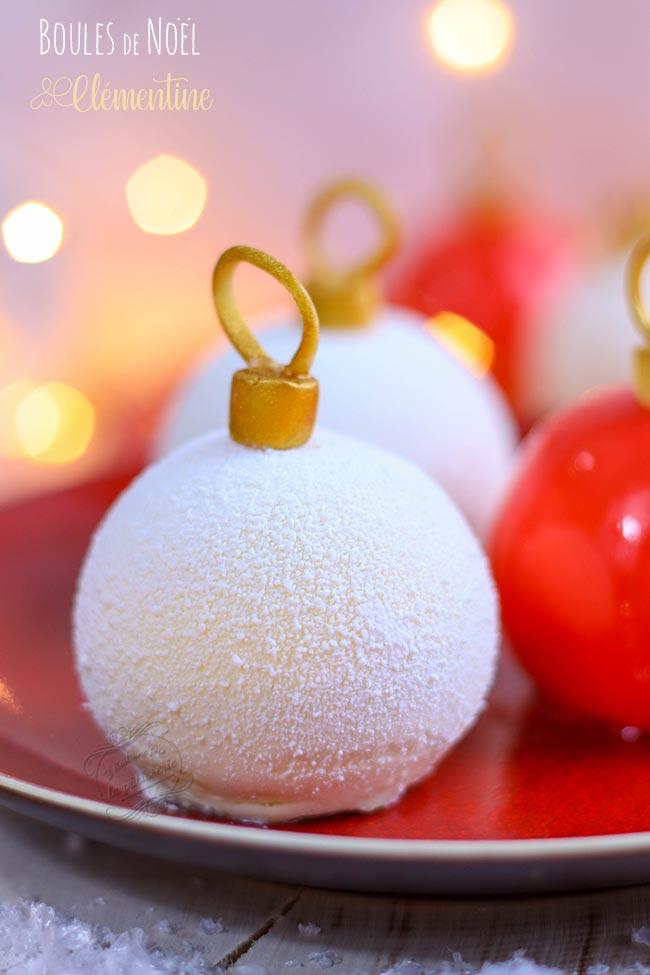 dessert boules noel