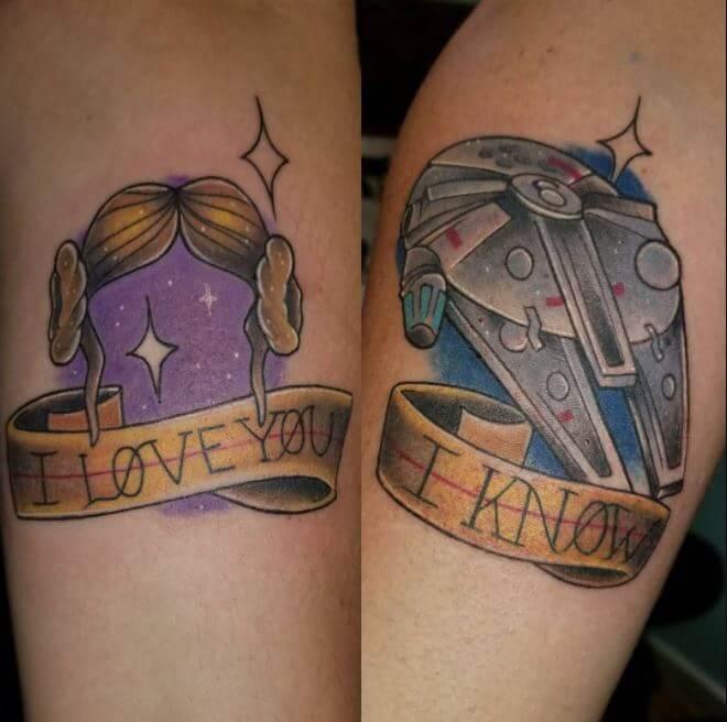 star wars Couple Tattoos