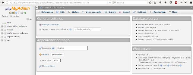 phpmyadmin running on nginx in ubuntu